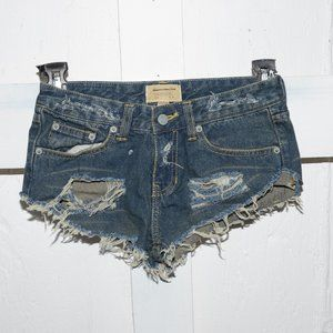Abercrombie & fitch womens cut off shorts size 00